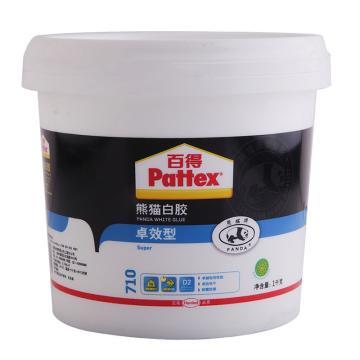 百得 熊猫白乳胶,710,1kg/桶
