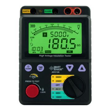 希玛/SMART SENSOR 高压绝缘电阻表AR3126,0.0-1000GΩ