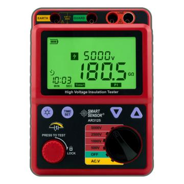 希玛/SMART SENSOR 高压绝缘电阻表AR3125,0.0-1000GΩ