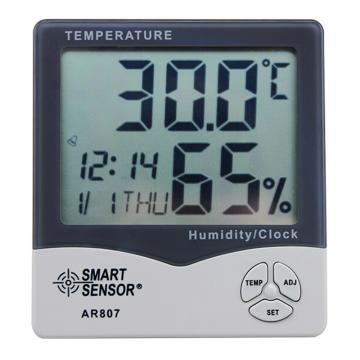 希玛/SMART SENSOR 数字式温湿度计,AR807,-40~70,20~90%RH
