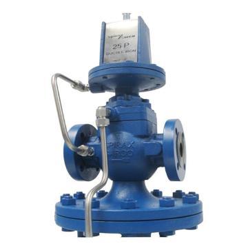 斯派莎克 25P 导阀隔膜型减压阀 球墨铸铁 DN40 法兰连接 PN16 蓝色弹簧 1.4-7 barg