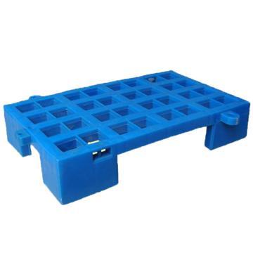 恋亚 防潮垫仓板,全新HDPE料,尺寸(W*D*H)mm:500*420*120,蓝色,承重:1T