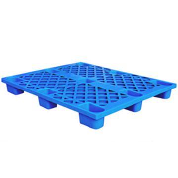 恋亚 塑料托盘,网格九脚,全新HDPE料,尺寸(W*D*H)mm:1000*1000*135,蓝色,动载1T,静载4T