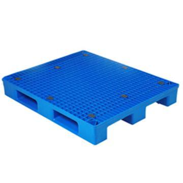 恋亚 塑料托盘,网格川字,全新HDPE料,尺寸(W*D*H)mm:1200*800*150,蓝色,动载1.2T,静载4T,上货架载重:0.7T