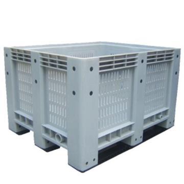 恋亚 网格卡板箱,全新HDPE料,尺寸(W*D*H)mm:1200*1000*760,灰色,动载1T,静载4T