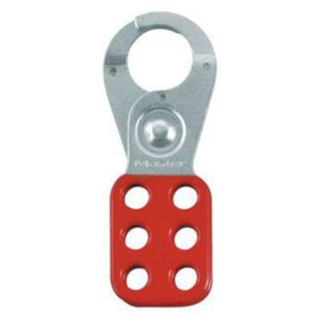 玛斯特锁MasterLock 安全搭扣,钳口直径1英寸,红色,420MCN