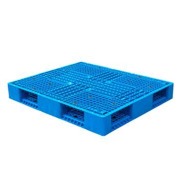 恋亚 塑料托盘,网格田字,全新HDPE料,尺寸(W*D*H)mm:1400*1100*150,蓝色,动载1.2T,静载4T,上货架载重:0.7T