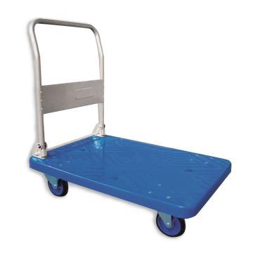 静音塑料手推车,折叠扶手,300kg,910*600mm