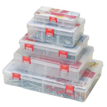 塑料零件盒,234×168×62 插片8格 两层