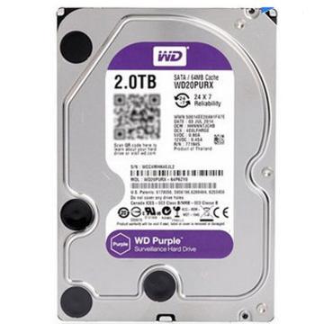 西部数据 台式机硬盘,2TB (串口)7200转 WD20PURX 单位:块