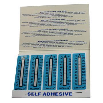 温度美/TMC 热敏贴纸,Thermax不可逆系列10格A,40/42/44/46/49/54/60/62/65/71℃,1包10片