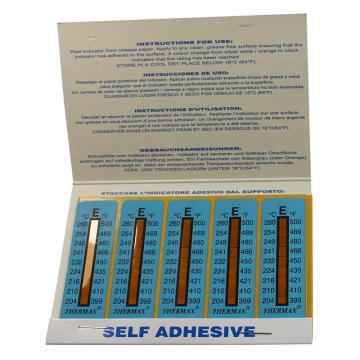 温度美/TMC 热敏贴纸,Thermax不可逆系列8格E,204/210/216/224/232/241/249/254/260℃,1包10片