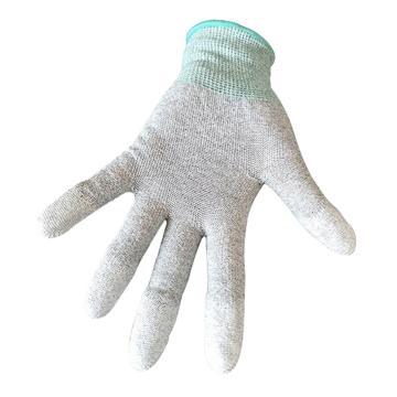 纳美,手指涂层PU防静电手套GW-316-L