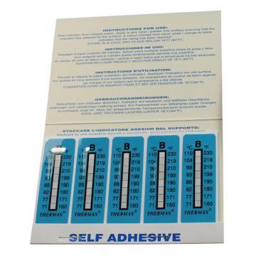 温度美/TMC 热敏贴纸Thermax不可逆系列8格B,71/77/82/88/93/99/104/110℃,10包100片