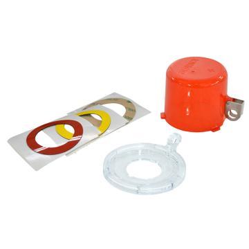 贝迪按钮锁,直径73mm,高55mm,底座中心孔直径30mm,红色