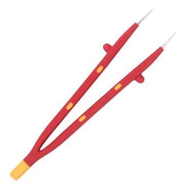 绝缘镊子,微尖横齿型 130-150mm,S150013