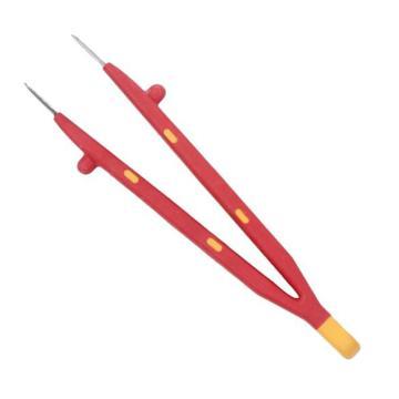 绝缘镊子,宽口横齿型 130-150mm,S150015