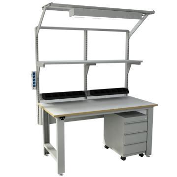 森亿 防静电框架工作台1530*750(含移动柜,不含单抽、不含电源盒),SEG-03-A