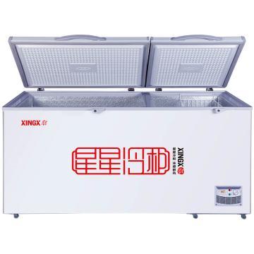 星星 519升 商用单温冰柜单箱冷藏冷冻转换柜 ,BD/BC-519E , 大容积卧式双门冷柜