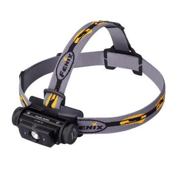 Fenix 防水LED头灯HL60R 黑色双光源 含1个18650锂电池+USB线+防水圈+2盒(共8个)头盔夹,单位个