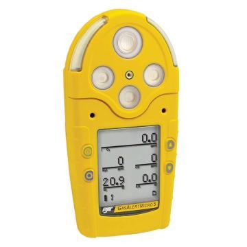 BW 气体检测仪,GasAlertMicro 5系列,LEL/O2/H2S/CO 扩散式 带充电