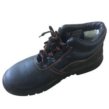 EHS中帮加人造绒安全鞋,保护足趾、防刺穿、防静电,38