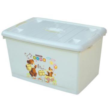 恋亚 PP高透整理箱,白色,外径尺寸(mm):265*180*156,容积:5L,承重:4.8kg,4个轮子