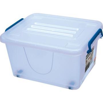 恋亚 PP整理箱,白色,外径尺寸(mm):465*335*250,容积:35L,承重:27.8kg,4个轮子