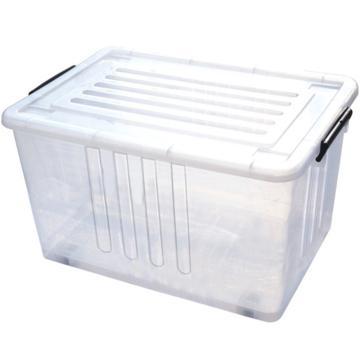 恋亚 PP整理箱,白色,外径尺寸(mm):515*365*285,容积:45L,承重:39.5kg,4个轮子