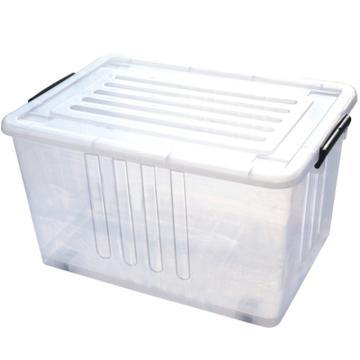 恋亚 PP整理箱,白色,外径尺寸(mm):570*390*310,容积:60L,承重:52.6kg,4个轮子