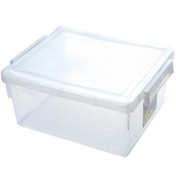 恋亚 PP整理箱,白色,外径尺寸(mm):445*365*195,容积:24L,承重:23.9kg,4个轮子
