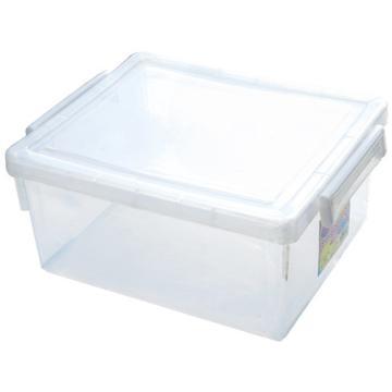 恋亚 PP整理箱,白色,外径尺寸(mm):545*370*295,容积:45L,承重:46.3kg,4个轮子