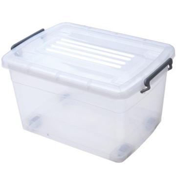 恋亚 PP整理箱,白色,外径尺寸(mm):380*285*185,容积:15L,承重:12.8kg,4个轮子
