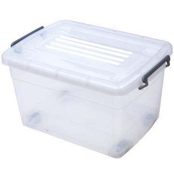 恋亚 PP整理箱,白色,外径尺寸(mm):485*355*265,容积:35L,承重:30.8kg,4个轮子