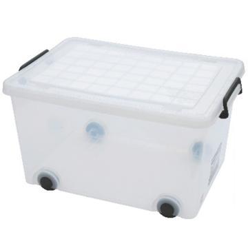 恋亚 PP整理箱,白色,外径尺寸(mm):460*330*230,容积:35L,承重:25.2kg,4个轮子