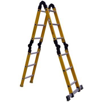 西域推荐 半绝缘六关节梯,扩展长度(mm):4200,LHF-640