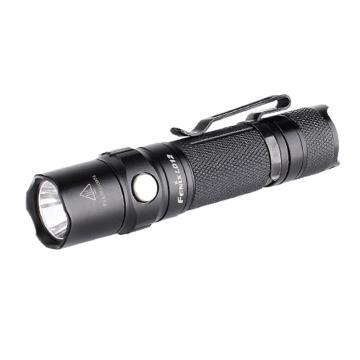 Fenix 迷你便携防水LED手电筒,LD12 (2017)黑色 320lm 含抱夹、含1节AA电池,单位:个