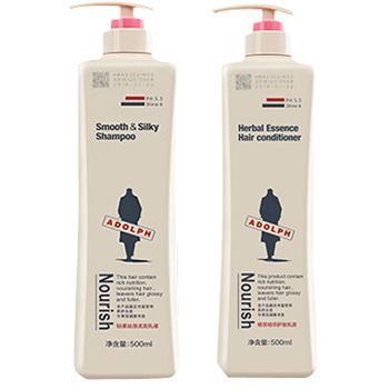 阿道夫(ADOLPH)轻柔丝滑洗发乳+护发素套装,500ml 各1瓶,单位:组