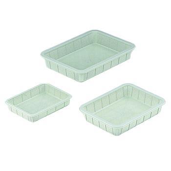 进口塑料方筐(浅型),中,295×390×70