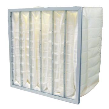 袋式中效空气过滤器,AAF,宽*高*厚度890*500*380mm,过滤效率F8,袋数10个,合成纤维,边框材质AL,边框厚度21mm