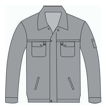 春秋季外套上衣,浅灰色,全棉加厚,S