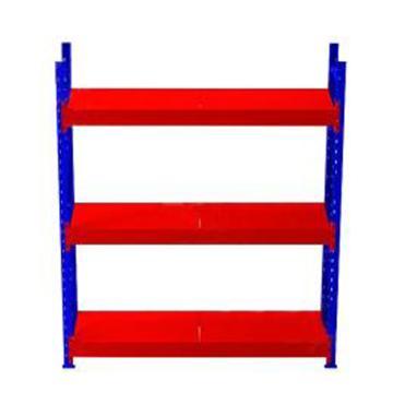 至腾   重型货架主架,钢板,外尺寸(mm):2680*1000*2500,内尺寸(mm):2500*1000*2500,三层,单层承重(kg):1500,立柱蓝色,钢板橘红色(安装费另询)