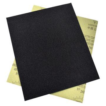 氧化铝耐水砂纸,200#,100张/包  黑色
