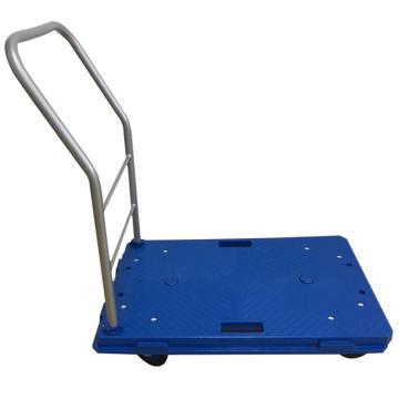 全静音多功能互联式地板车,可拆式扶手,额定载重(kg):100,车板尺寸(mm):675*425,脚轮直径(mm):75,蓝色车身