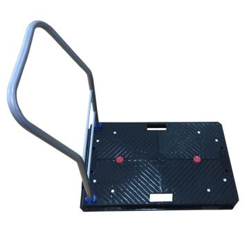 全静音多功能互联式地板车,可拆式扶手,额定载重(kg):100,车板尺寸(mm):675*425,脚轮直径(mm):100,黑色车身