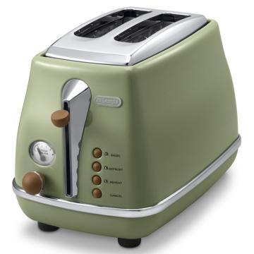 德龙Icona复古系列多士炉-橄榄绿 CTO2003.VGR