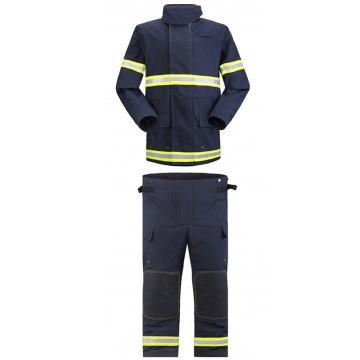 雷克兰  CEOSX系列消防战斗服全套产品:上衣、裤子、连接背带、红色尼龙产品包,尺码:S