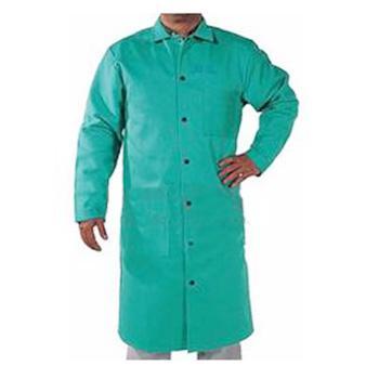 威特仕 焊接防护服,33-6142-XXXL,火狐狸绿色烧焊加长服
