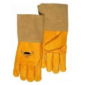 威特仕 10-2777L款烧焊手套,金黄色牛青皮中袖筒