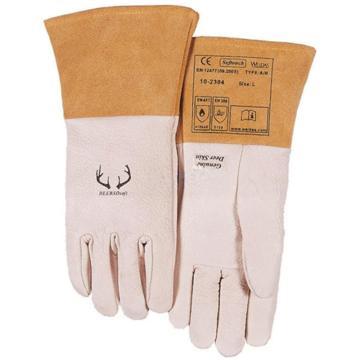威特仕 焊接手套,10-2304-XL,驯鹿王白色鹿青皮中袖筒款
